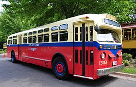 1954 Twin City Rapid Transit bus 1303 on display 2011.jpg