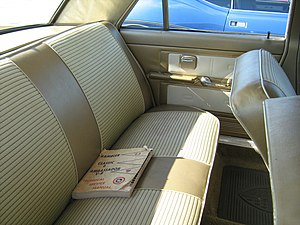 Car seat - Rear bench seat for three adult passengers in a AMC Ambassador