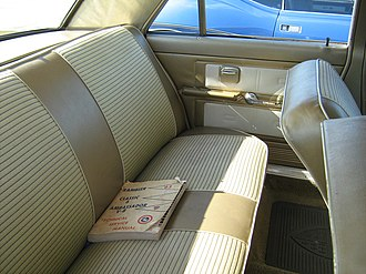 Car seat - Rear bench seat for three adult passengers in an AMC Ambassador