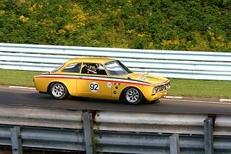 Alfa Romeo 105/115 Series Coupés - 1972 2000 GTV in a vintage race at Watkins Glen International.