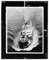 1974 View of fir underway, bow view. - U.S. Coast Guard Cutter FIR, Puget Sound Area, Seattle, King County, WA HAER WA-167-63.tif