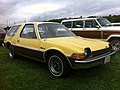 1977 AMC Pacer DL station wagon yellow-b Mason-Dixon Dragway 2014.jpg