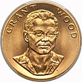 1980 Grant Wood One-Ounce Gold Medal (obv).jpg