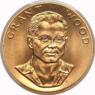 Grant Wood - 1980 Grant Wood One-Ounce 24-karat Gold Medal