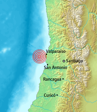 1985 Algarrobo earthquake - Image: 1985 Chilean earthquake