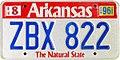 1989 Arkansas license plate ZBX 822.jpg