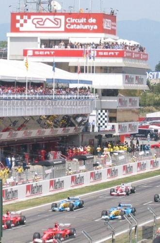 2003 Spanish Grand Prix - The start of the 2003 Spanish Grand Prix