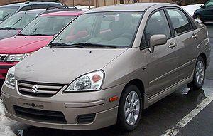 Suzuki Baleno - Image: 2005 07 Suzuki Aerio Sedan