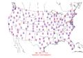 2006-04-19 Max-min Temperature Map NOAA.png