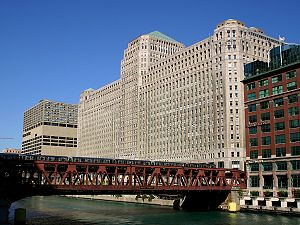 River North Point - Apparel Center sits west of the Merchandise Mart