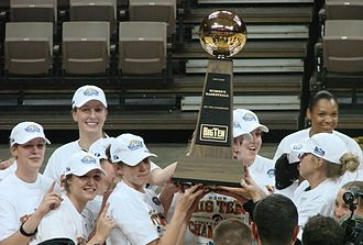 Iowa Hawkeyes - Members of Iowa's women's basketball team celebrate their 2008 regular season Big Ten championship on March 2, 2008.