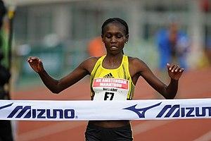 2009 European Cross Country Championships - Image: 20091018 Hilda Kibet Amsterdam Marathon