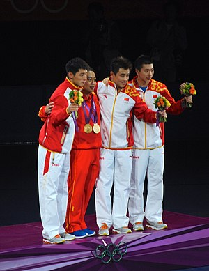 2012 Summer Olympics medal table - China defended the men's team event title in table tennis.