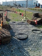 2013 Great Moonbuggy Race obstacle preparation