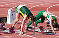 2013 IPC Athletics World Championships - 26072013 - Anrune Liebenberg of South-Africa preparing for the Women's 100m - T46 first semifinal 1.jpg