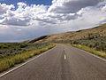 2014-08-19 14 19 36 View north along Nevada State Route 225 (Mountain City Highway) about 93.9 miles north of Nevada State Route 535 (Idaho Street) near Owyhee, Nevada.JPG