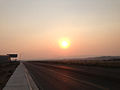 2014-09-09 18 14 23 Smokey sunset on Idaho Street in Elko, Nevada.JPG