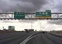 View South Along I 15 At Exit 42 I 515 Us 93 Us 95 In Las Vegas