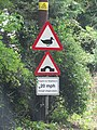 2018-08-12 Triangular duck crossing sign, Mill street, Gimingham (2).JPG