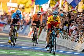 20180930 UCI Road World Championships Innsbruck Men Elite Road Race Valverde wins 850 2068.jpg