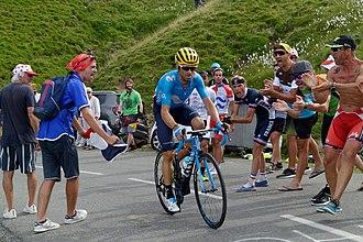 Valverde sull Aubisque durante la diciannovesima tappa del Tour de France  2018 52df44a9312