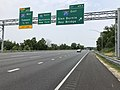 2019-06-05 12 49 46 View north along Interstate 95 at Exit 49A (Interstate 695 EAST, Glen Burnie, Key Bridge) in Arbutus, Baltimore County, Maryland.jpg