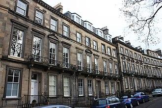 Philip Kelland - Kelland's house at 20 Clarendon Crescent, Edinburgh (centre)
