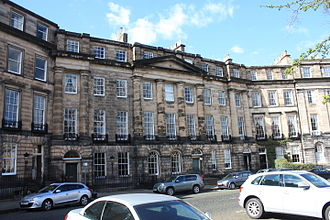 Francis Jeffrey, Lord Jeffrey - 22 to 24 Moray Place Edinburgh. 24, to the left, was the home of Lord Jeffrey