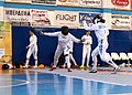2nd Leonidas Pirgos Fencing Tournament. Lunge and touch for Irini Mavrikiou.jpg
