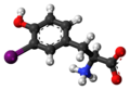 3-Iodotyrosine zwitterion 3D ball.png