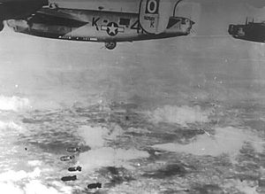 RAF Sudbury - B-24s (Square-O) of the 486th Bomb Group. Identifiable is Ford B-24M-5-FO Liberator Serial 44-50561 of the 833d Bomb Squadron.   This aircraft survived the war and was sent to RFC Walnut Ridge Arkansas on 3 January 1946 for scrapping.