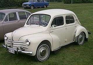 Renault 4CV Rear-engined, rear-wheel-drive, 4-door economy supermini car model