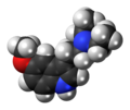 5-MeO-DET molecule spacefill.png