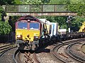 66169 (and 66846) Sydenham to Hoo Junction up yard (14029658419).jpg