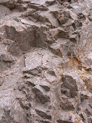 Dolostone - Triassic dolomitic rocks from Slovakia.