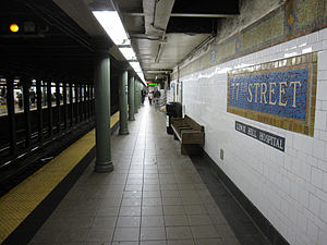 77th Street (IRT Lexington Avenue Line) - Uptown platform