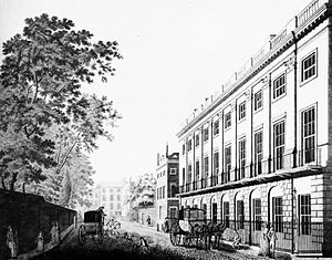 7 Burlington Gardens - Image: 7 Burlington Gardens (Uxbridge Queensberry House) c.1790 edited