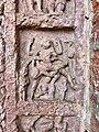 7th century Vishnu avatar Narasimha reliefs, Lakshmana Hindu temple, Sirpur Chhattisgarh India 1.jpg