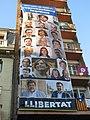 88 Pancarta reivindicativa a la plaça de la Vila (Sant Celoni).jpg