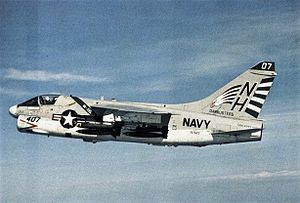 A-7E Corsair II VA-195 in flight 1972.jpg