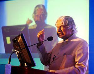 A. P. J. Abdul Kalam - A P J Abdul Kalam delivering a speech