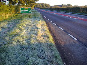 A1065 road - Image: A1065 between Swafham and Fakenham