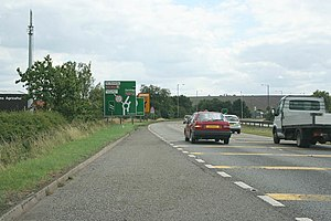 Grantham North services - Former roundabout