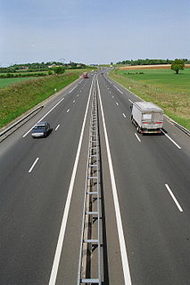 A77 autoroute road in France