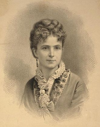 Ann Eliza Young - A lithograph of Ann Eliza Young, sometime between 1869 and 1875.