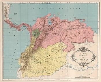 Organización Territorial Del Virreinato De Nueva Granada