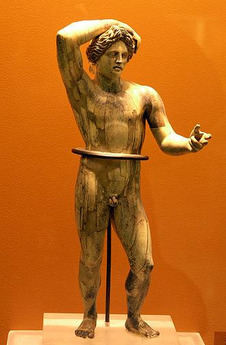 Lyceus - Statuette of the Apollo Lykeios type, Museum of the Ancient Agora of Athens (inv. BI 236)