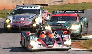 Intersport Racing - Intersport Lola B05/40 lapping GT cars at the 2006 Petit Le Mans.
