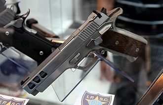 """Pardini - A limited edition of the 9 mm GT9 pistol in stainless steel, and with a 5"""" ventilated slide"""