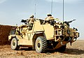 A Jackal Armoured Vehicle is put through it's paces in the desert at Camp Bastion, Afghanistan MOD 45148155.jpg